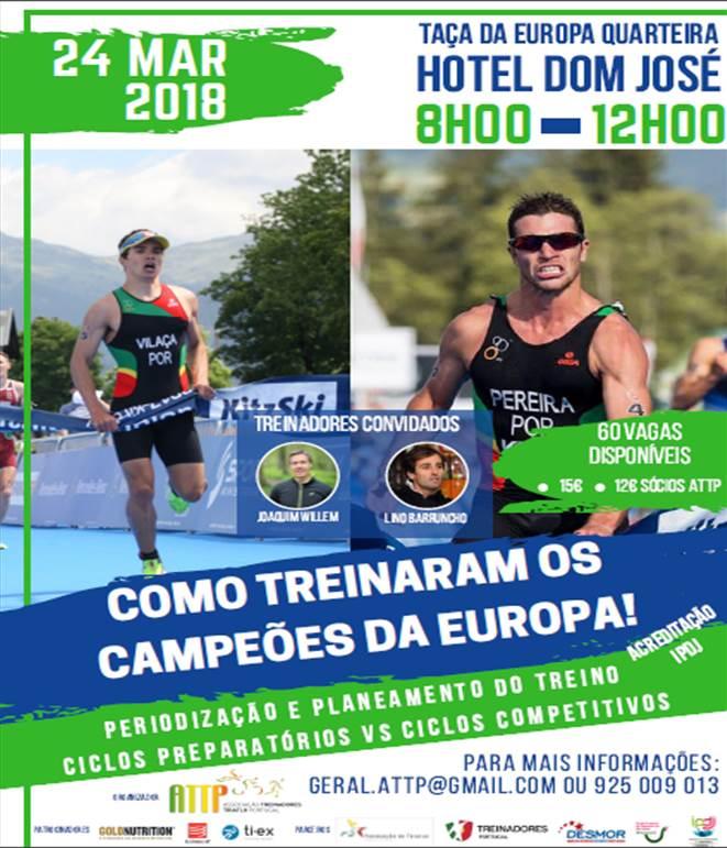 Campeões da europa: Vasco Vilaça, Campeão (Juniores) e João Silva, (Sprint e Olímpico)