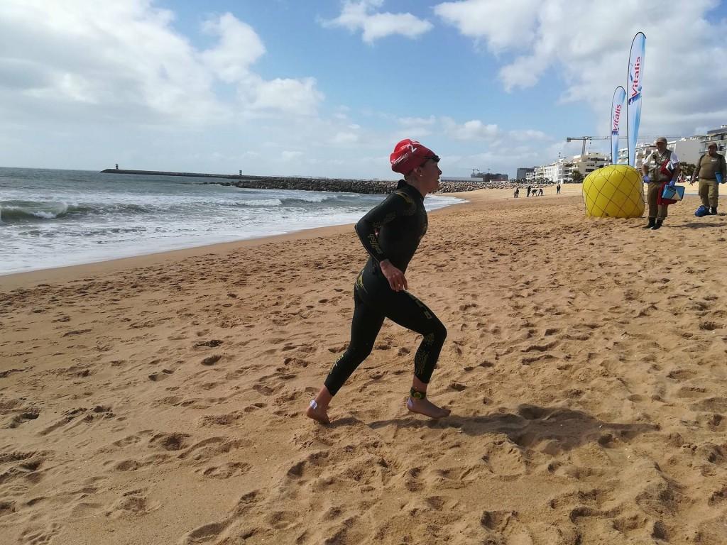 Helena Carvalho fez uma excelente natação