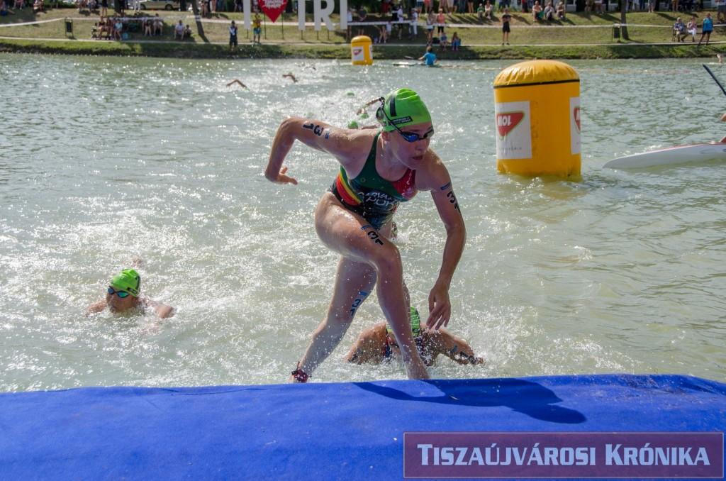 Helena Carvalho fez um excelente segmento de natação, tal como já é habitual