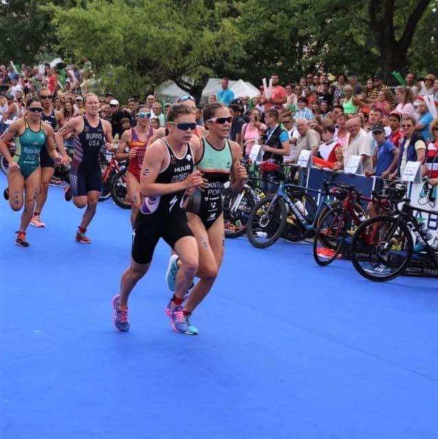 Na segunda transição, Melanie sai a impor o ritmo assumindo a liderança da corrida