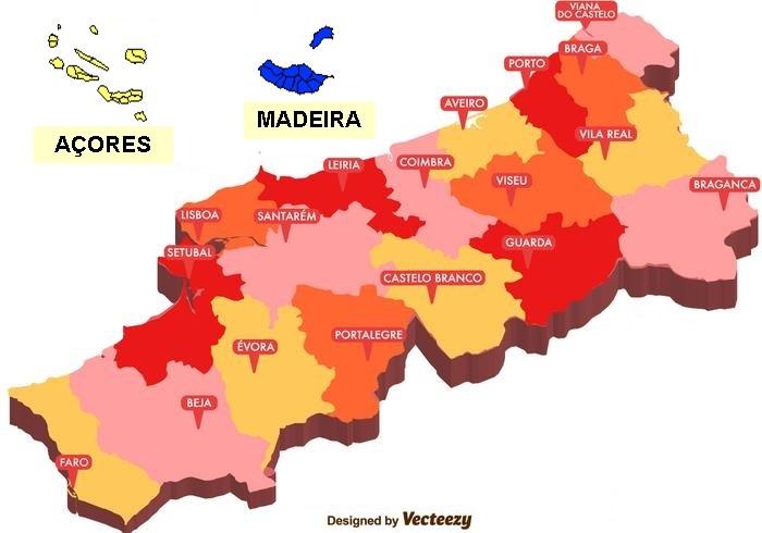 mapa regional de portugal Mapa Portugal 2   Federação de Triatlo de Portugal mapa regional de portugal