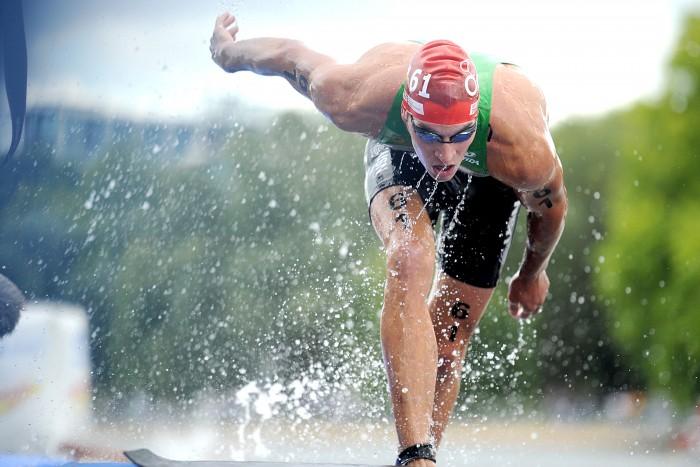 João Pereira fez uma natação com bom nível, acabando por acusar cansaço nos outros dois segmentos