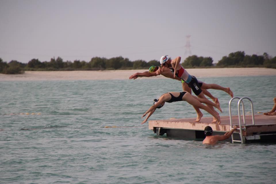 Triatletas portugueses em Abu Dhabi