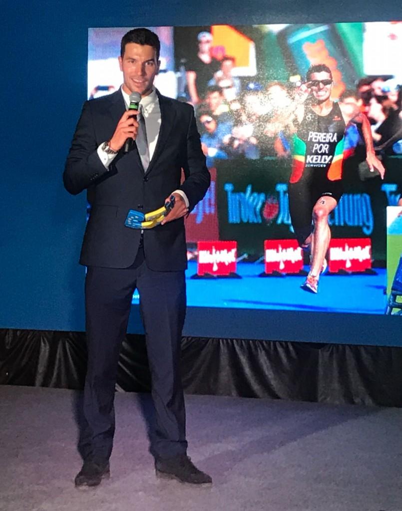 João Pereira agradeceu o prémio dedicando a todos que têm estado com o triatleta
