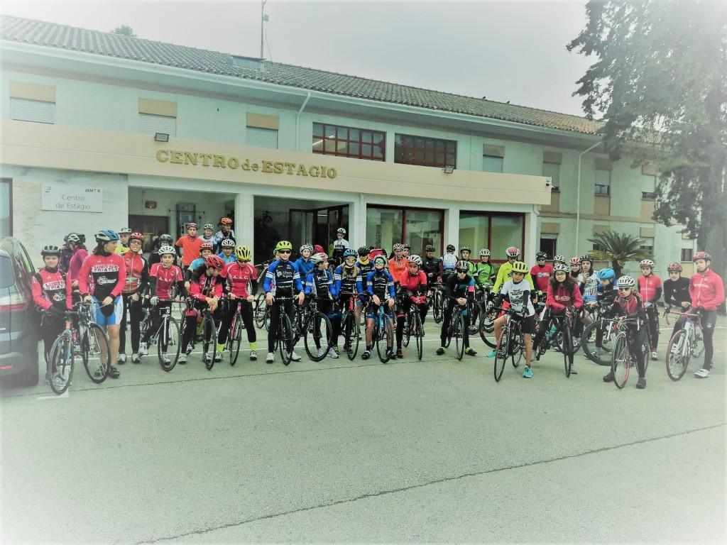O ciclismo foi um dos treinos presentes neste Estágio Nacional Jovem