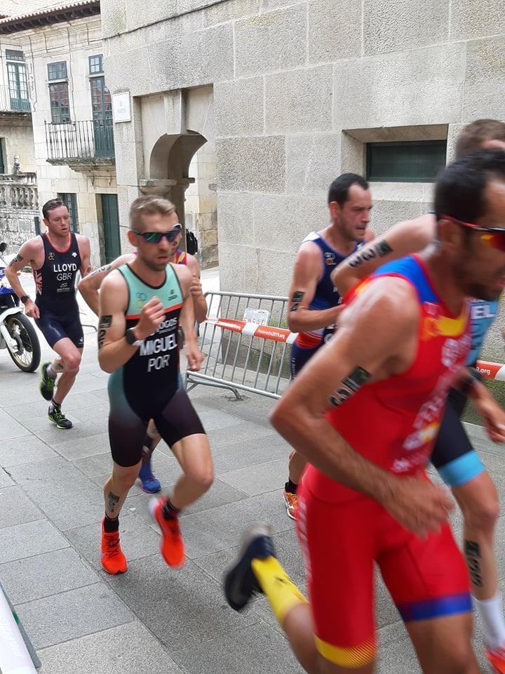 O Marco Miguel ficou em sexto lugar nos elites masculinos do Duatlo Standard na sua primeira participação em provas internacionais a representar Portugal