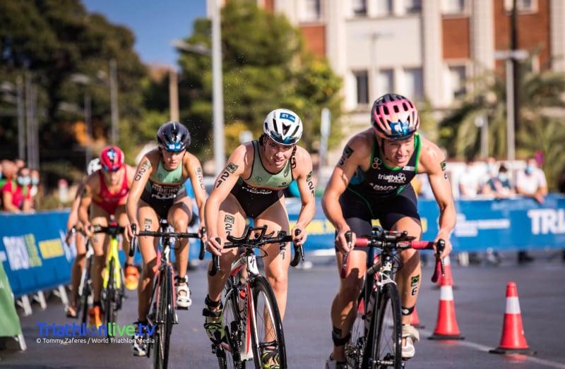 Todas as atletas nacionais em prova conseguiram integrar o primeiro grupo de ciclismo