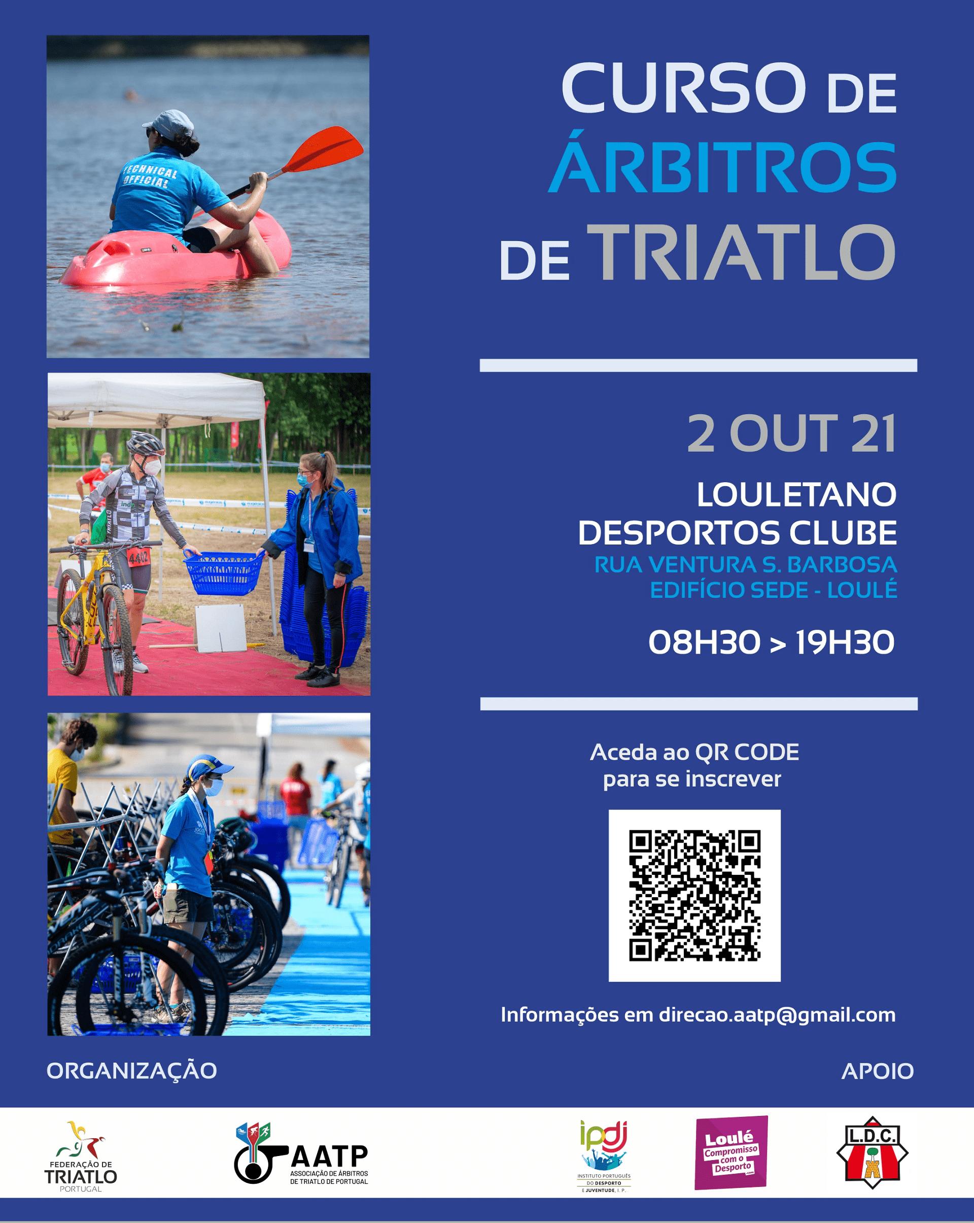 Curso Inicial de Árbitros de Triatlo, Loulé, 2 de outubro 2021