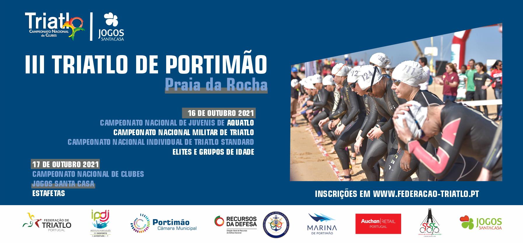 III Triatlo de Portimão realiza-se nos dias 16 e 17 de outubro